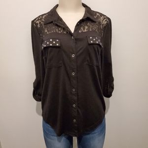Maurices Lace and Studded Top